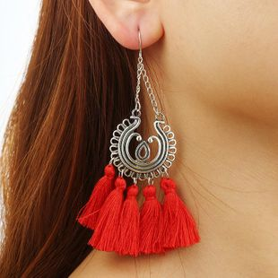 Fashion circle tassel long earrings NHGY138233's discount tags