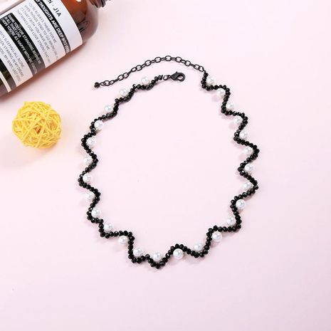 Korean fashion personality clavicle beads necklace NHQD138245's discount tags