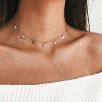 Collar de aleación de estrella de moda Pentagram NHNZ138253
