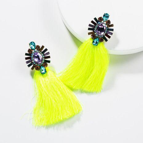 Vintage Acrylic Rhinestone Long Tassel Earrings NHJE138299's discount tags