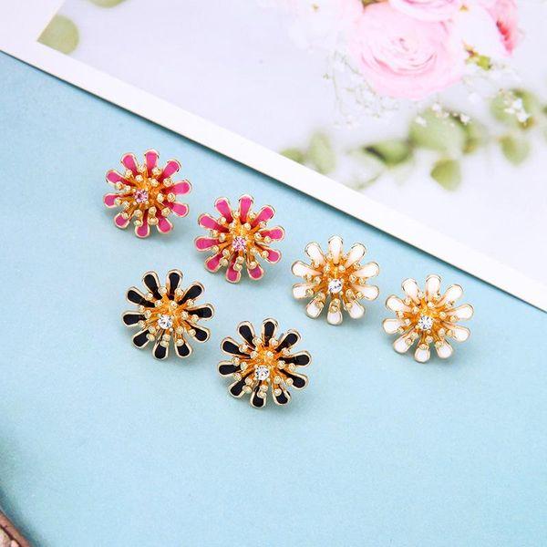 Fashion small fresh drop oil flower earrings NHQD138297