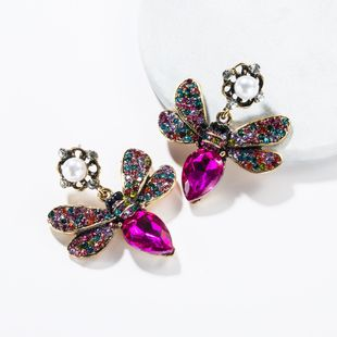 Fashionable butterfly inlaid with colored rhinestones NHJE138319's discount tags