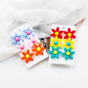 Colorful resin floral earrings NHJE138321's discount tags