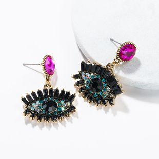 Fashion retro devil's eye alloy earrings NHJE138323's discount tags