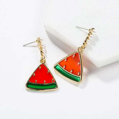 Cool Fruit Wind Resin Inlay Beads Sandia Drops Pendientes Love NHJE138332's discount tags
