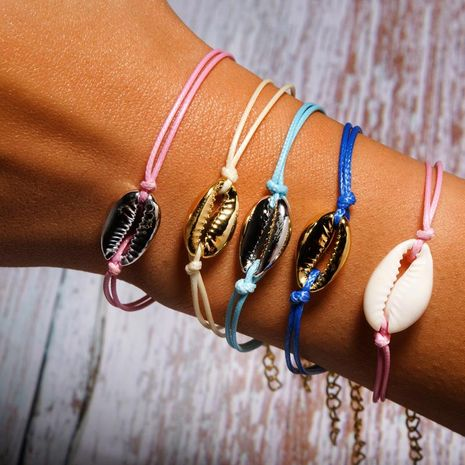 Summer lobster clasp alloy shell bracelet NHJQ138333's discount tags