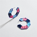 Hollow alloy segment dyed colored woven earrings NHLU138349