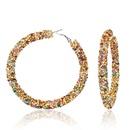 Fashionable personality alloy rhinestone earrings NHCT138365