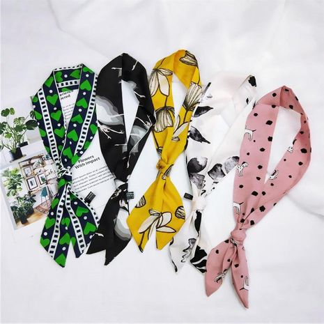 Summer tied bag wrapped handle ribbon slim small scarf NHMN138535's discount tags