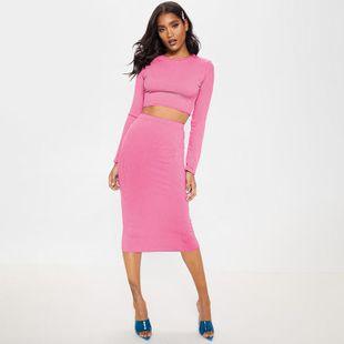 Traje de dos piezas con falda de mujer NHDF138539's discount tags