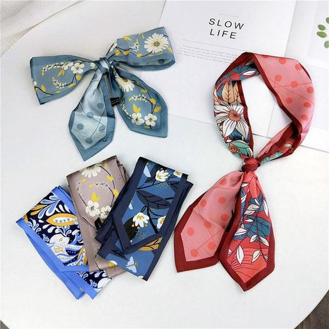 Summer fresh versatile ribbon wrist bag with a variety of scarves NHMN138587's discount tags