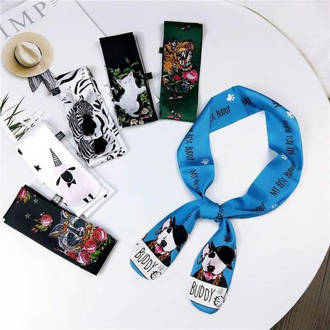 Korean cartoon animal slender narrow scarf NHMN138599's discount tags