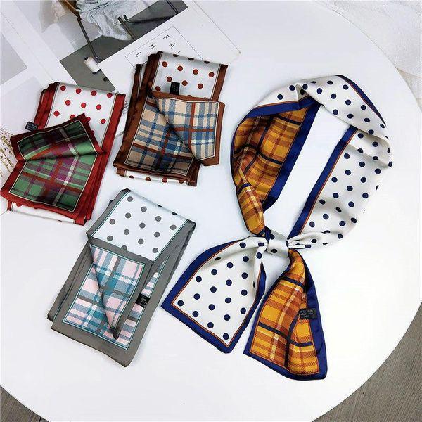 Fashion double-sided flat-length long scarf scarf NHMN138601