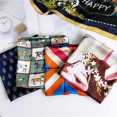 Fashionable cartoon small square scarf NHMN138603's discount tags
