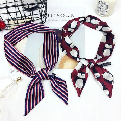 Korean version of the versatile satin scarf NHMN138604's discount tags