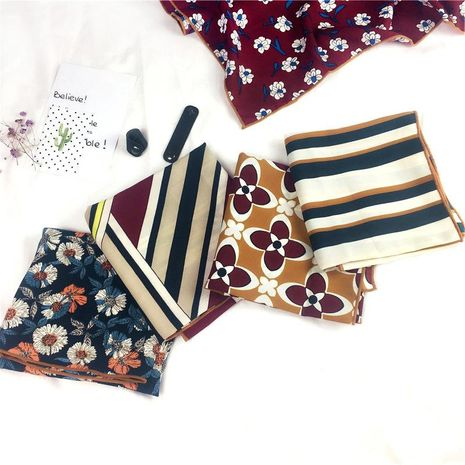Printed spring and autumn winter cotton and linen striped scarves NHMN138608's discount tags