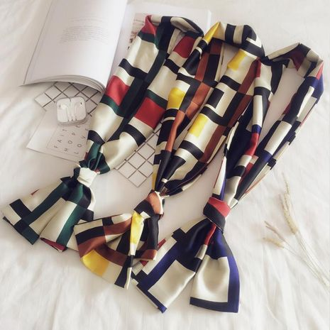 Double-sided dual-use small scarf professional scarf NHMN138607's discount tags