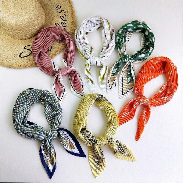 Bufandas de moda de pliegues literarios de verano NHMN138616