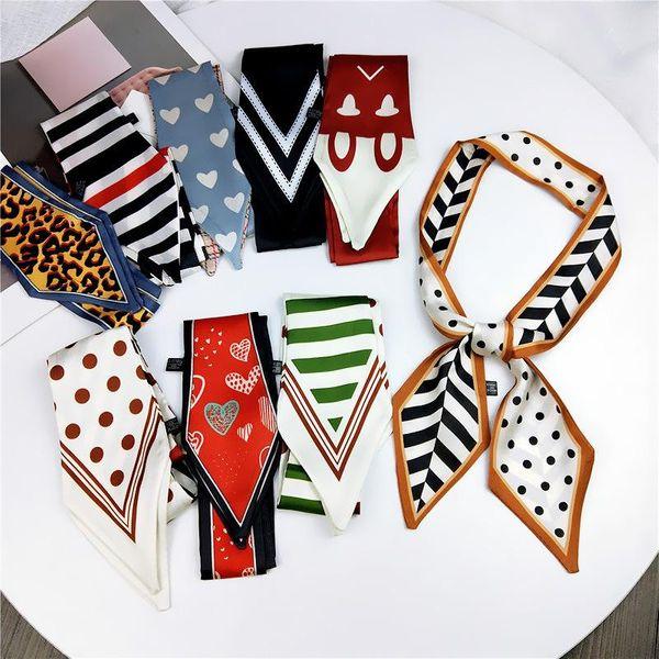 Korean sharp-angled parent-child small silk scarf NHMN138618