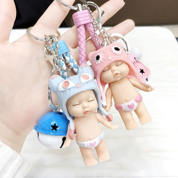 Cute sleeping doll phone rope bag rope key chain NHCB138632