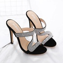Europe and America large size rhinestone high heel sandals NHSO138553