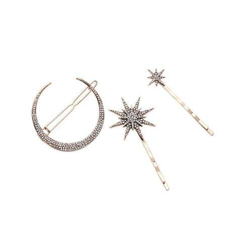 Pince à cheveux en alliage d'étoile de lune strass NHQD131037's discount tags