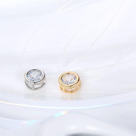 Fashion unisex zircon necklace NHGO131046's discount tags