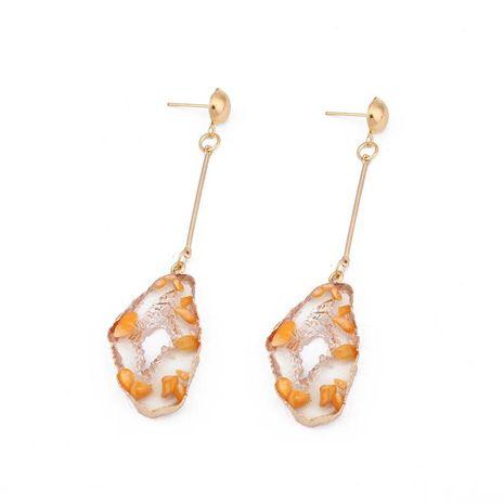 Long geometric resin earrings NHGO131129's discount tags