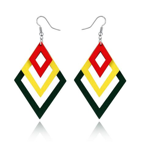 Multi-layer square resin earrings NHGO131131's discount tags