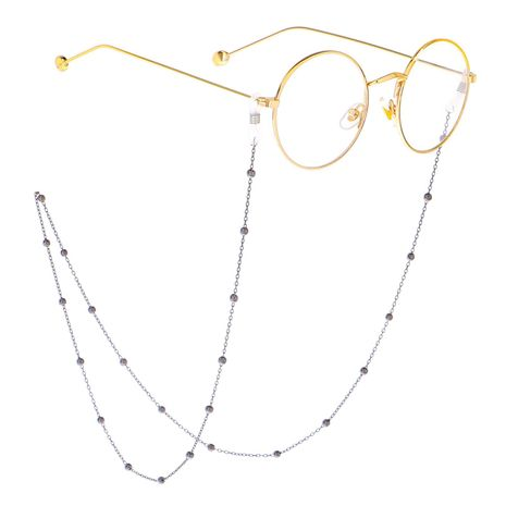 Alloy and alloy beaded glasses chain NHBC131135's discount tags