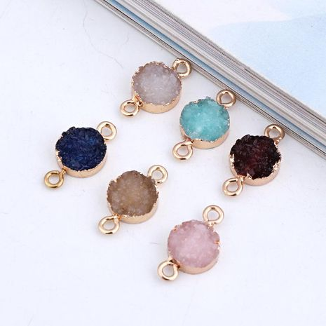 Round resin earring connector NHGO131138's discount tags