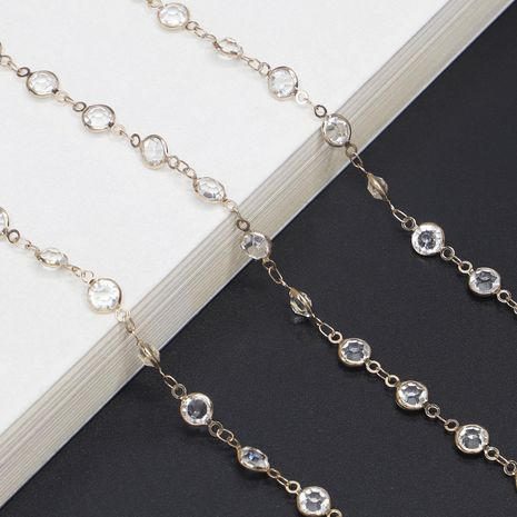 Transparent imitated crystal glasses chain NHBC131142's discount tags
