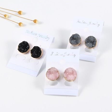 Round resin earrings NHGO131145's discount tags