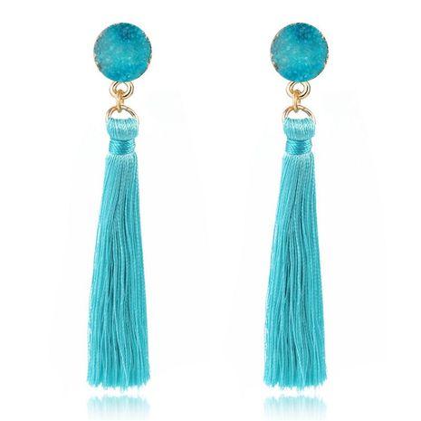 Bohemian long tassel earrings NHGO131149's discount tags