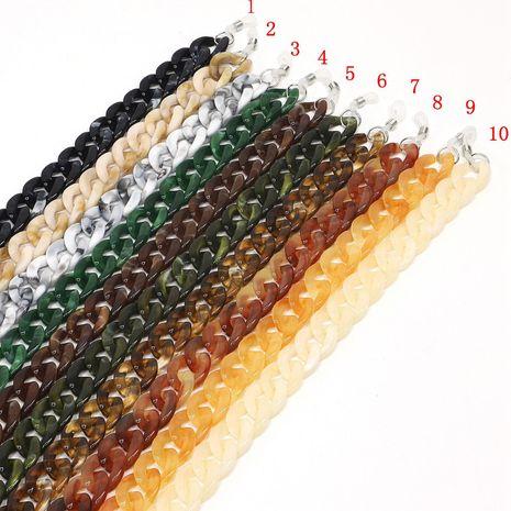 Fashion concave shape glasses chain NHBC131154's discount tags