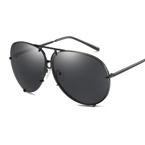 Fashion unisex large frame sunglasses multicolor NHFY131201's discount tags