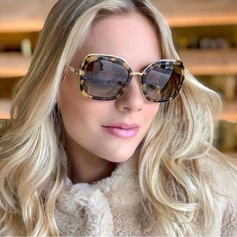 Fashion unisex polygonal metal sunglasses multicolor NHFY131208's discount tags
