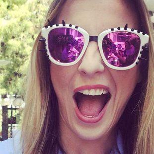Fashion unisex rivets sunglasses multicolor NHFY131213's discount tags
