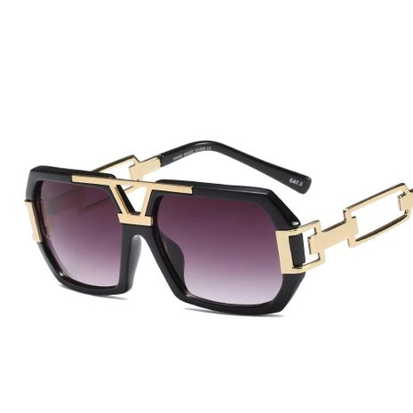 Fashion unisex large square sunglasses multicolor NHFY131224's discount tags