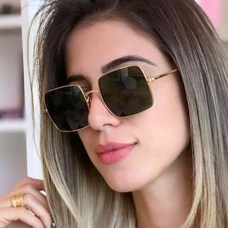 Fashion unisex square alloy-rimmed sunglasses multicolor NHFY131228's discount tags