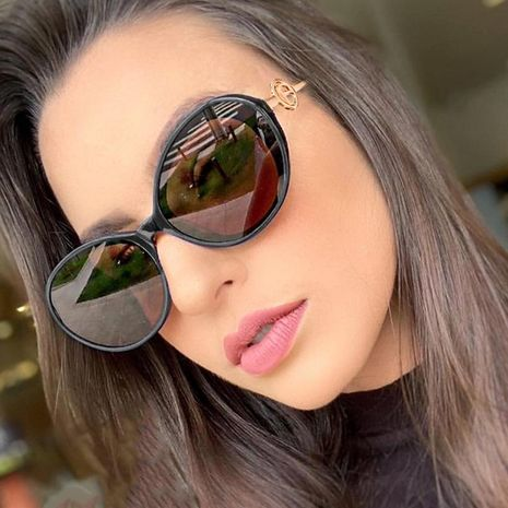 Fashion unisex oval resin sunglasses multicolor NHFY131237's discount tags