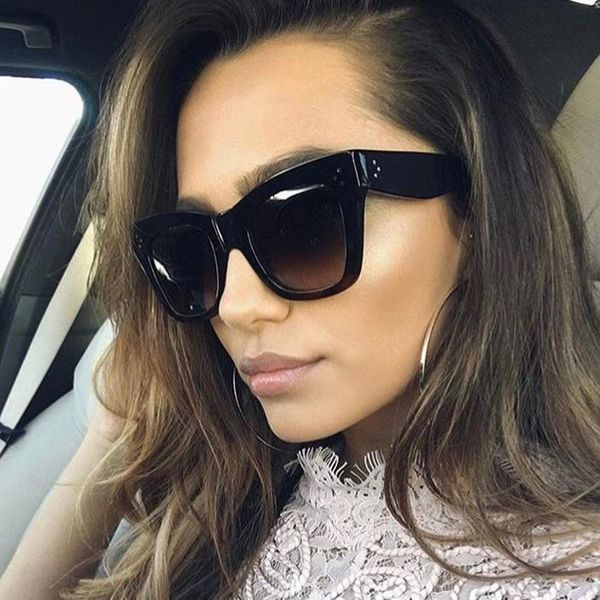 Fashion unisex leopard large box sunglasses multicolor NHFY131239