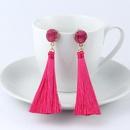 Bohemian long tassel earrings NHGO131149