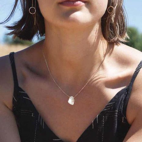 Simple and creative versatile item clavicle chain shell necklace NHCT131559's discount tags