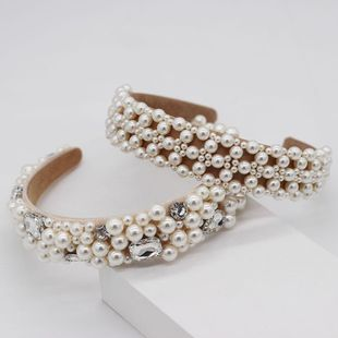Womens U-shaped Beads Hair Band & Headbands NHWJ131582's discount tags