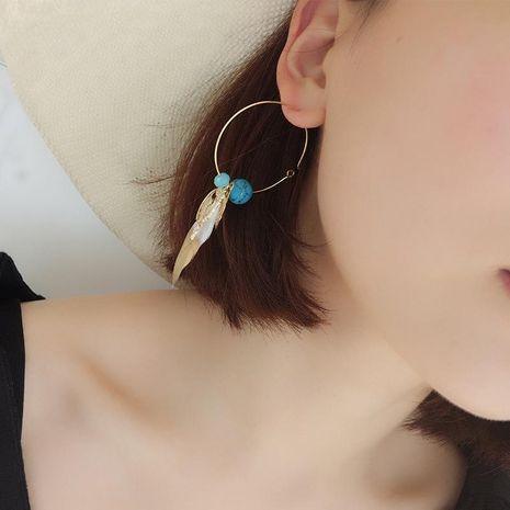 Boucles d'oreilles bohème plume tempérament personnalité polyvalente marée NHLL131620's discount tags