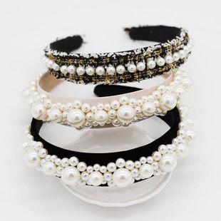 Fashion simple street woven large beads headband NHWJ131638's discount tags