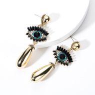 Pendientes de gota de perla de diamante de acrílico de moda NHJE131650