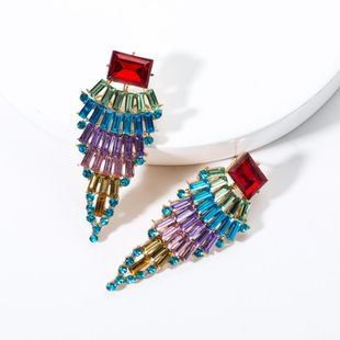 Fashion Acrylic Rhinestone Full Rhinestone Earrings NHJE131668's discount tags
