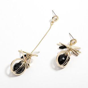 Temperament asymmetric wild atmospheric exaggerated earrings NHLL131677's discount tags